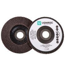 VONROC Lamellenscheiben 125 mm 2 Stück | Für Winkelschleifer