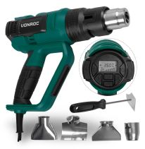 Professional hot air gun 2000W | With LCD display and 60 heat settings