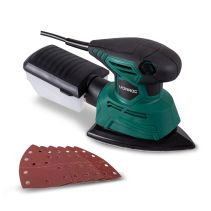 Palm Sander - detail sander 130W | Incl. dust collection box and sanding papers