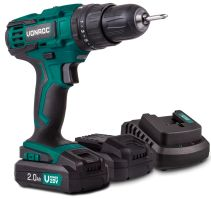 Cordless impact drill 20V | Incl. 2x 2.0Ah battery and charger