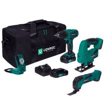 Tool set VPower 20V - 2.0Ah | Incl. 3 machines, 2 batteries and charger