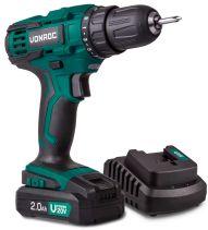Cordless drill 20V set 2.0Ah