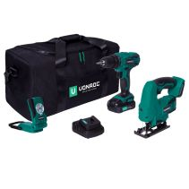 Tool set VPower 20V - 2.0Ah | Incl. 2 machines, battery and charger